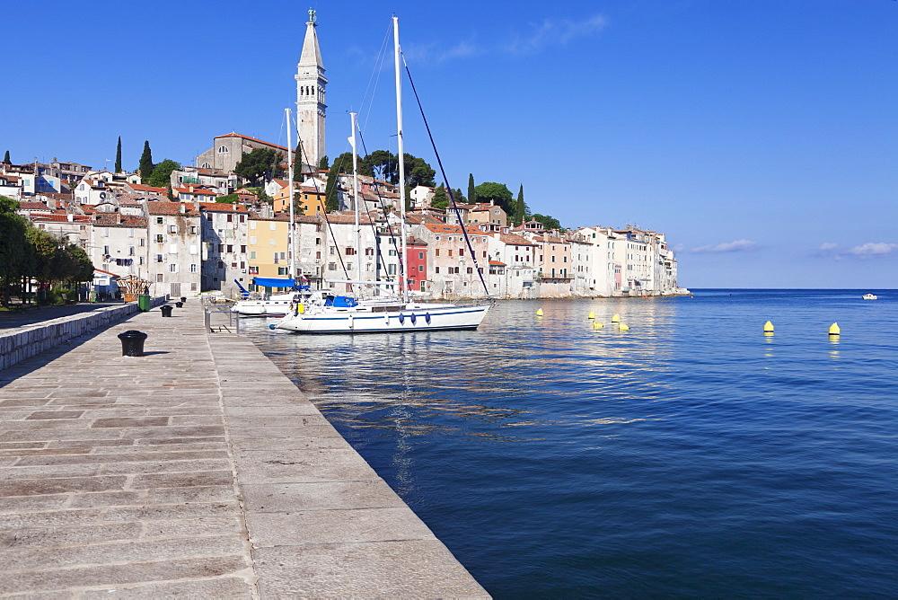 Old town and the cathedral of St. Euphemia, Rovinj, Istria, Croatia, Adriatic, Europe