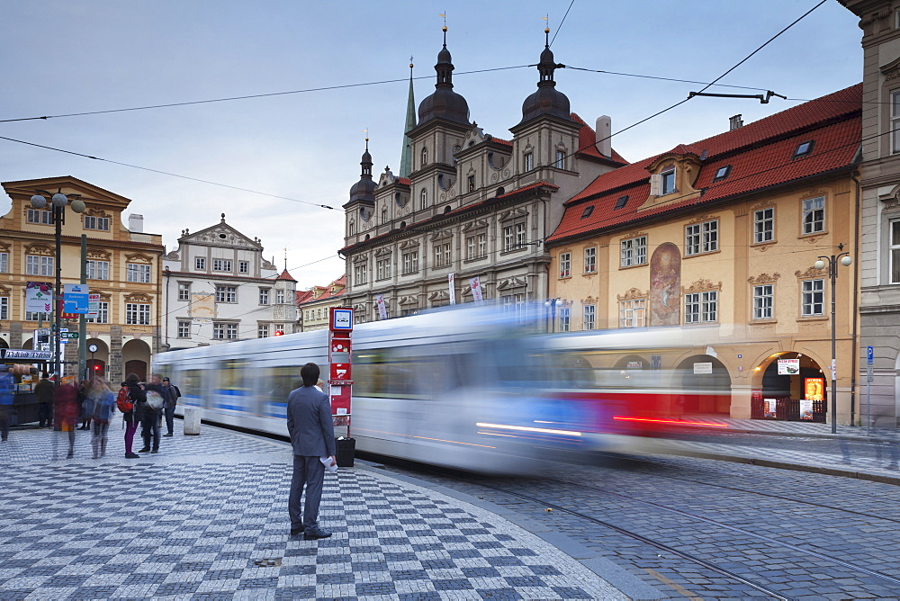 Tram, Mala Strana, Prague, Bohemia, Czech Republic, Europe