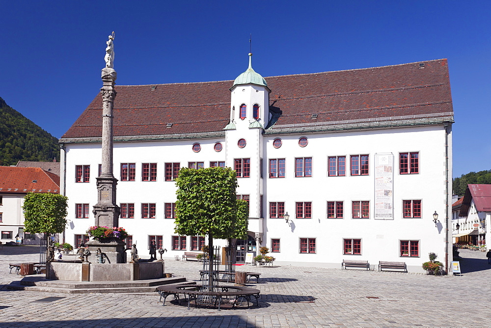 Town hall at the marketplace, Immenstadt, Allgau, Bavaria, Germany, Europe