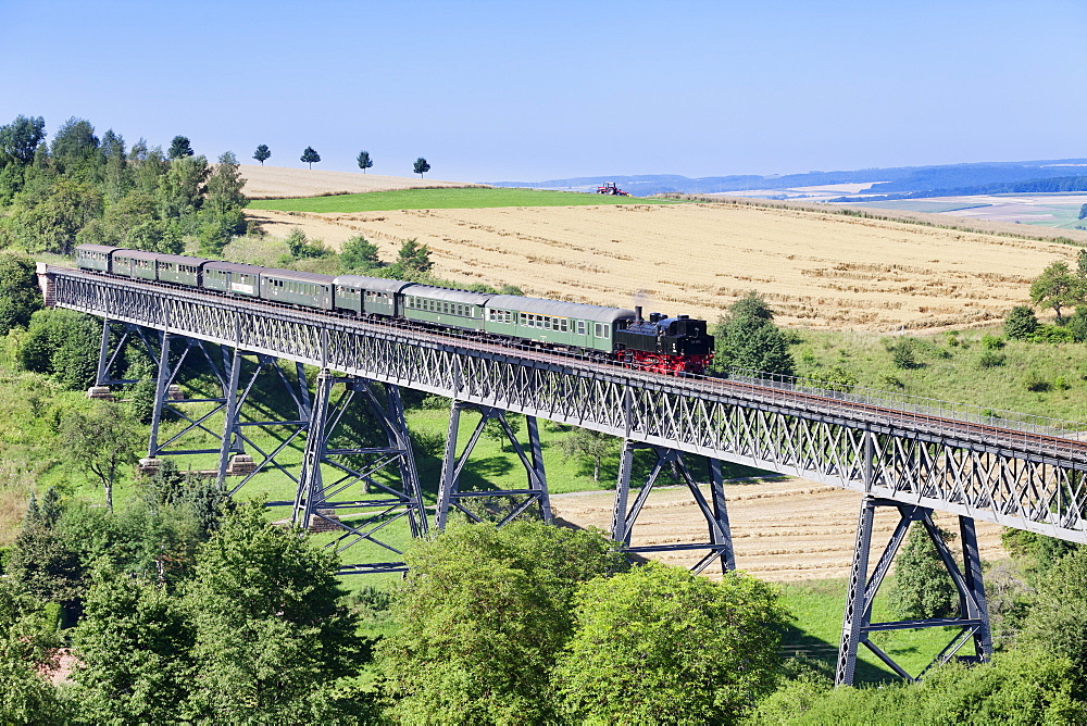 Viaduct, Sauschwanzlebahn, historical railway, Epfenhofen, Black Forest, Baden Wurttemberg, Germany, Europe