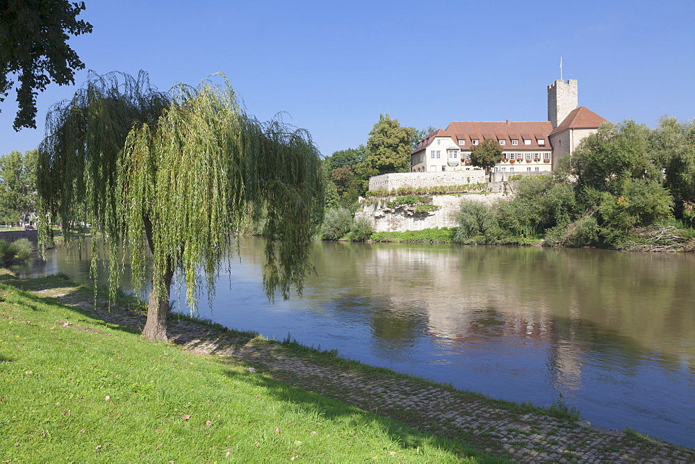 Castle at the Neckar River, Lauffen am Neckar, Baden Wurttemberg, Germany, Europe