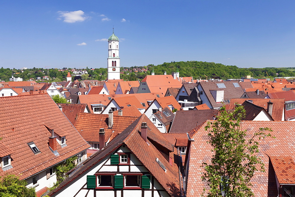 Old town and St. Martin church, Biberach an der Riss, Upper Swabia, Baden Wurttemberg, Germany, Europe