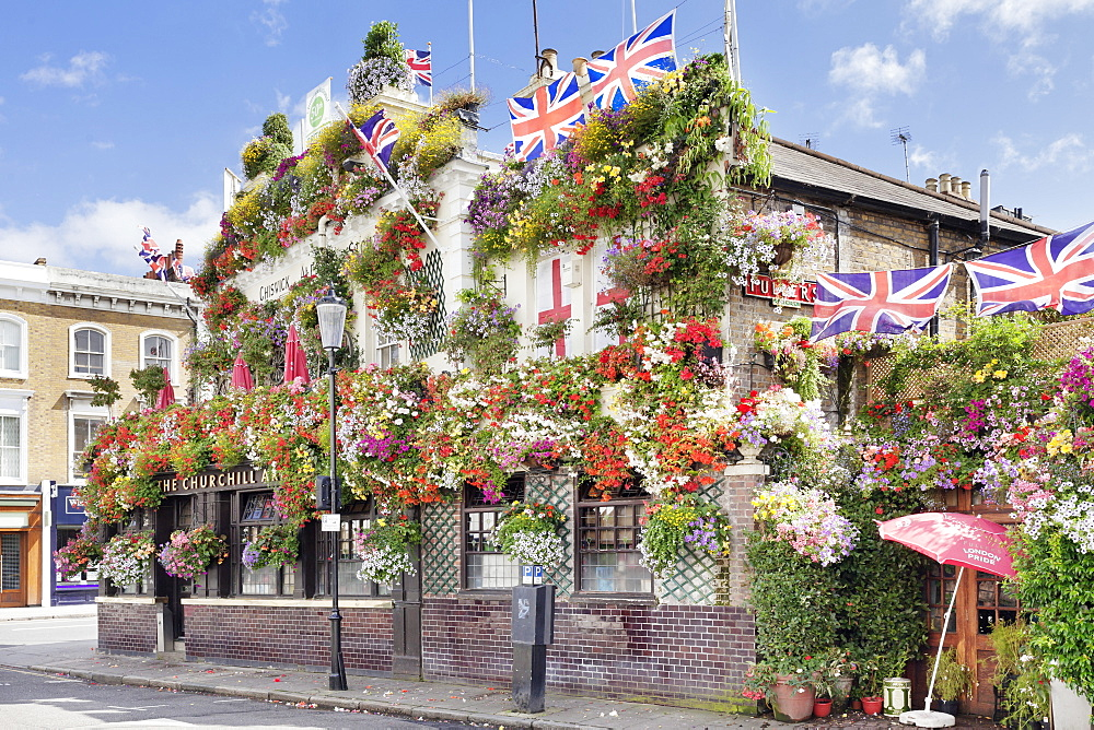 Churchill Arms Pub, Kensington, London, England, United Kingdom, Europe