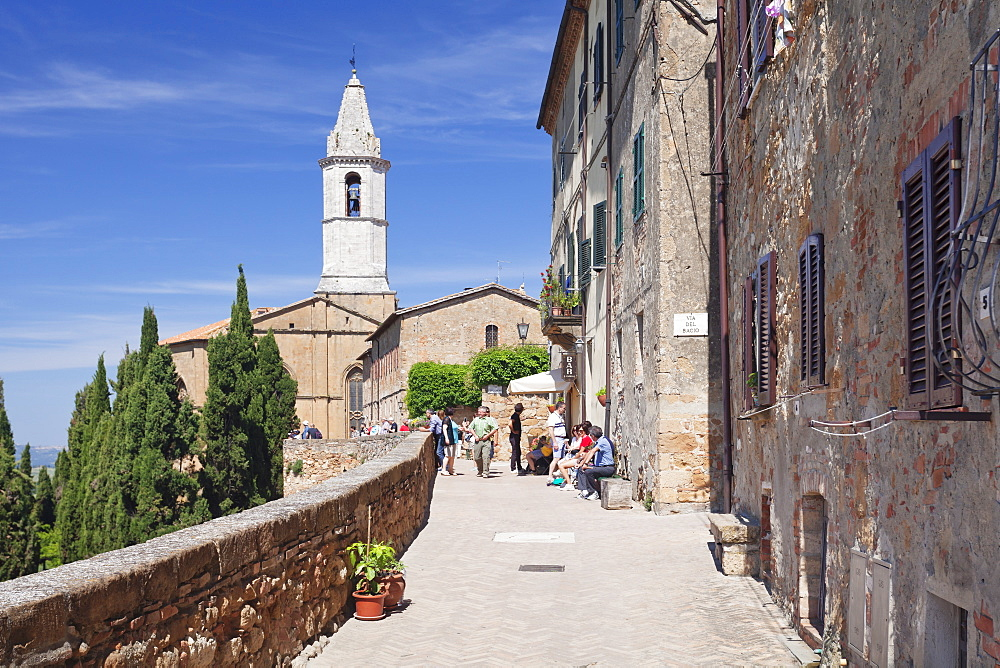 Santa Maria Assunta Cathedral, Pienza, Val d'Orcia (Orcia Valley), UNESCO World Heritage Site, Siena Province, Tuscany, Italy, Europe