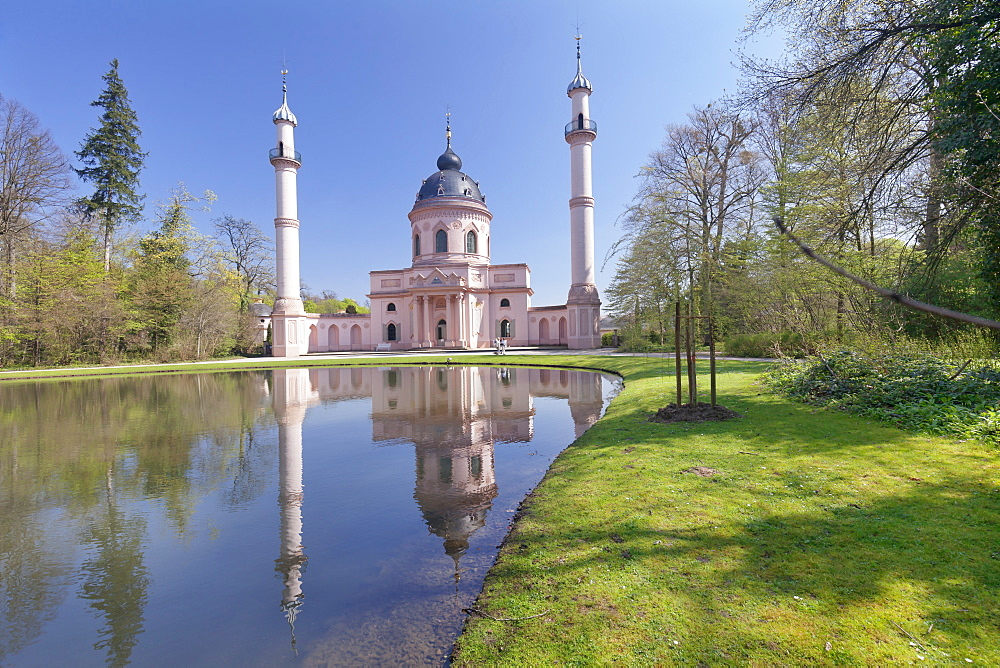 Mosque in Castle Gardens, Schloss Schwetzingen Palace, Schwetzingen, Baden-Wurttemberg, Germany, Europe