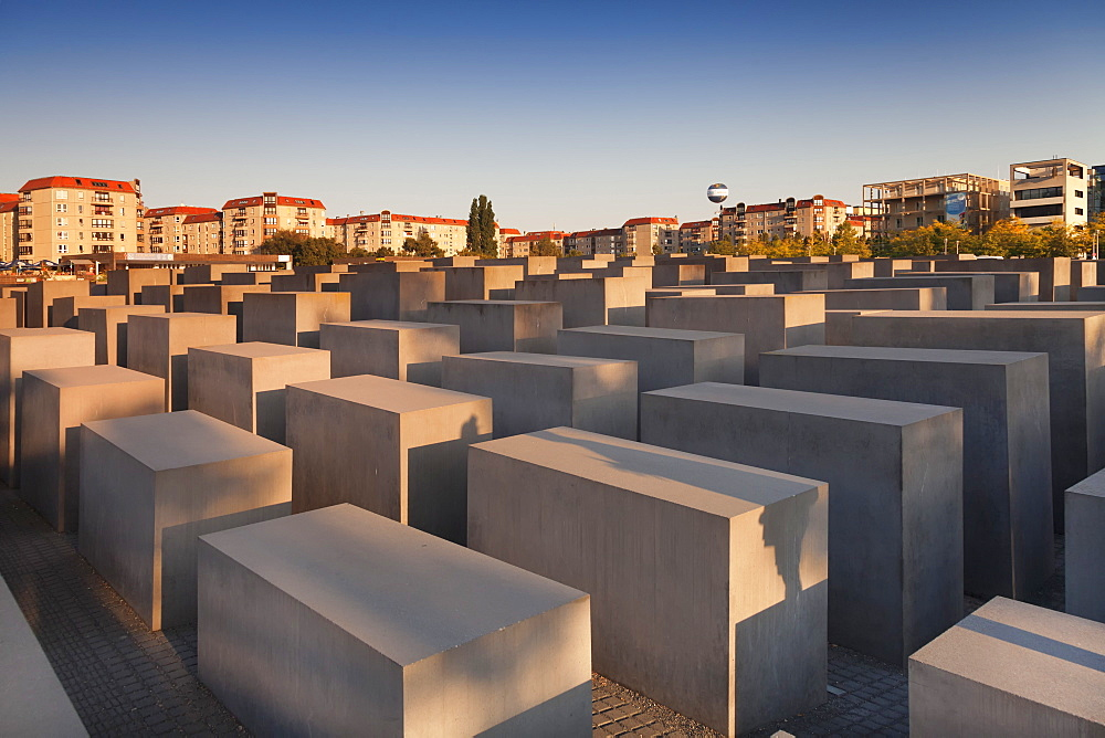 Holocaust Memorial at sunset, Berlin Mitte, Berlin, Germany, Europe