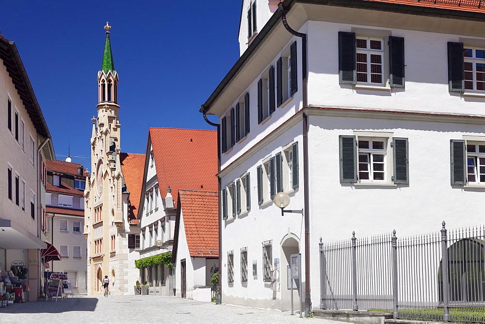 Pedestrian area, Hospice of the Holy Spirit (Heilig Geist Spital), Bad Waldsee, Upper Swabian Baroque Route, Upper Swabia, Baden-Wurttemberg, Germany, Europe