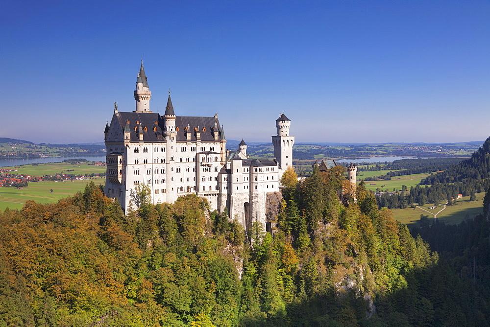 Neuschwanstein Castle, Fussen, Allgaeu, Allgaeu Alps, Bavaria, Germany