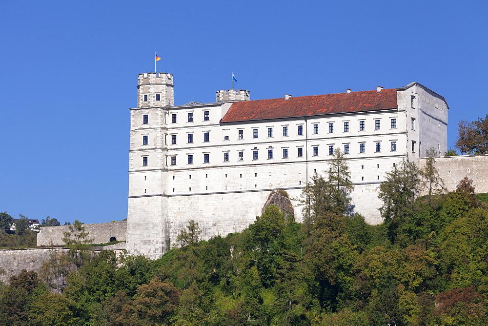 Willibaldsburg castle, Eichstaett, Altmuehltal, Bavaria, Germany