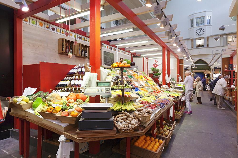 Market hall, Stuttgart, Baden Wuerttemberg, Germany