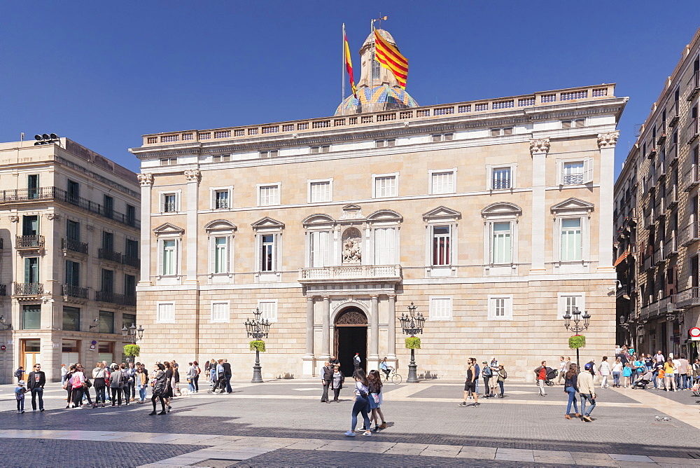 Palau de la Generalitat, Seat of Autonomous Government, Placa de Sant Jaume, Barri Gotic, Barcelona, Catalonia, Spain, Europe