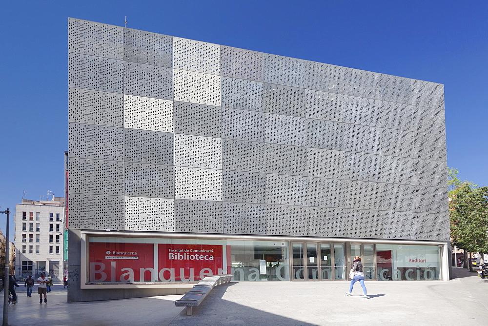 Biblioteca Facultat de Comunicacio, El Raval, Barcelona, Catalonia, Spain, Europe