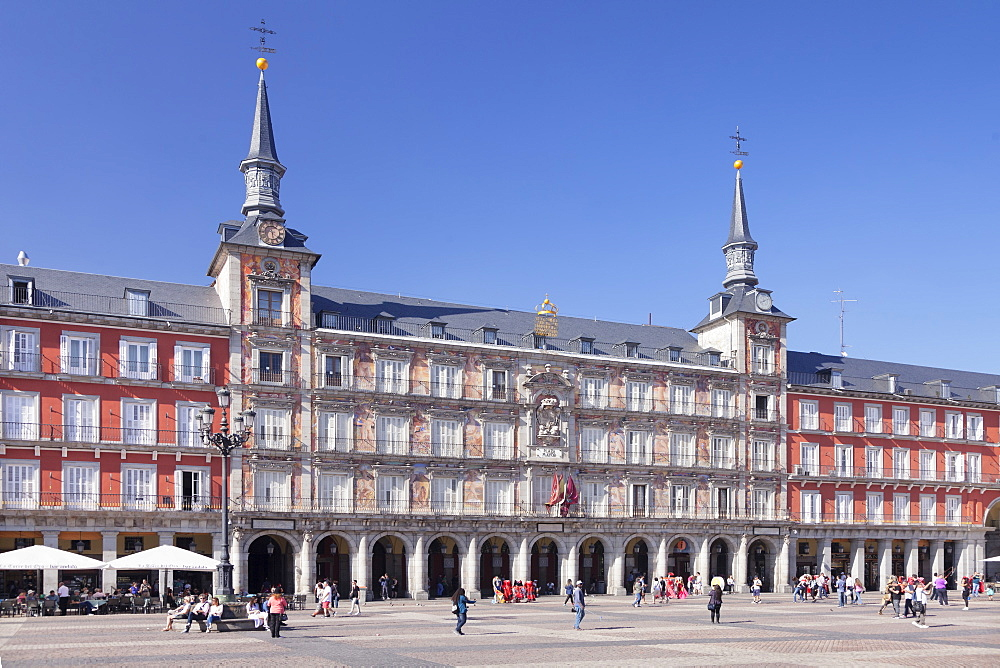 Casa de la Panaderia, Plaza Mayor, Madrid, Spain, Europe