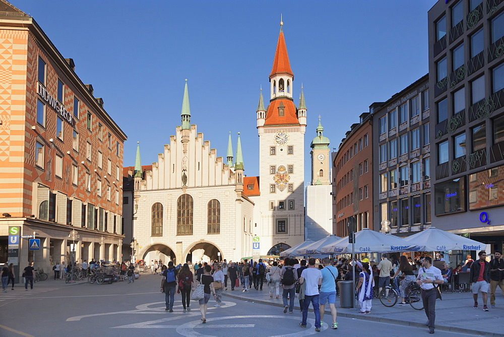 Old town hall (Altes Rathaus) at Marienplatz Square, Munich, Bavaria, Germany, Europe