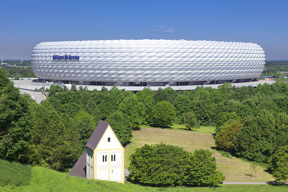 Allianz Arena, soccer stadium, Munich, Bavaria, Germany, Europe