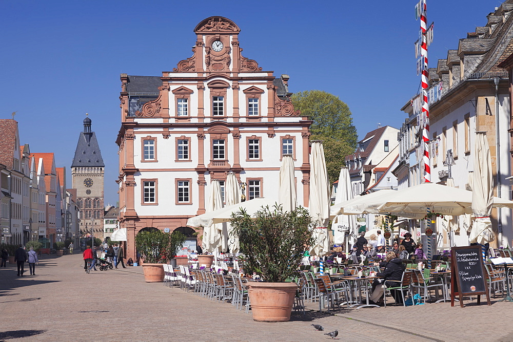 Maximilianstrasse, Alte Muenz building, Altpoertel Gate, Speyer, Rhineland-Palatinate, Germany, Europe