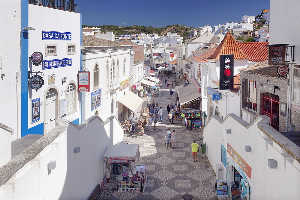 Rua do 5 de Outubro, historical centre, Albufeira, Algarve, Portugal, Europe