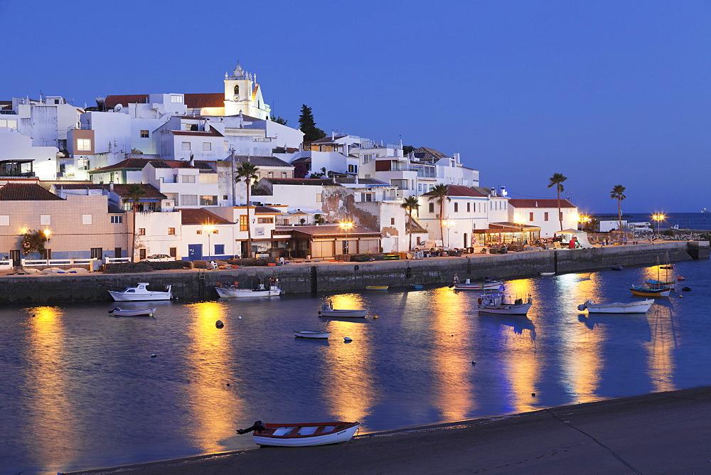 Ferragudo fishing village, near Portimao, Algarve, Portugal, Europe