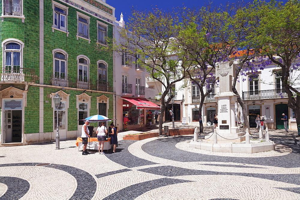 Praca Luis de Camoes Square, Lagos, Algarve, Portugal, Europe