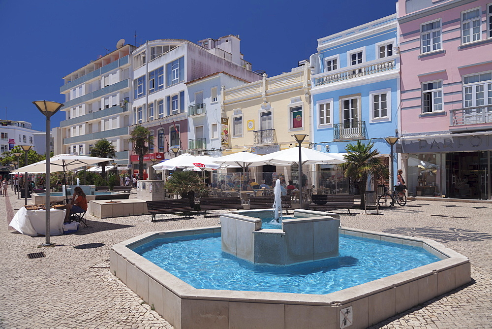Street cafes in the old town, Lagos, Algarve, Portugal