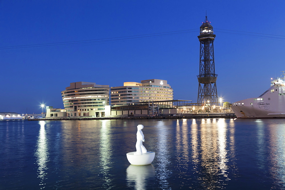 Port Vell, World Trade Center, Torre de Sant Jaume I, Barcelona, Catalonia, Spain, Europe