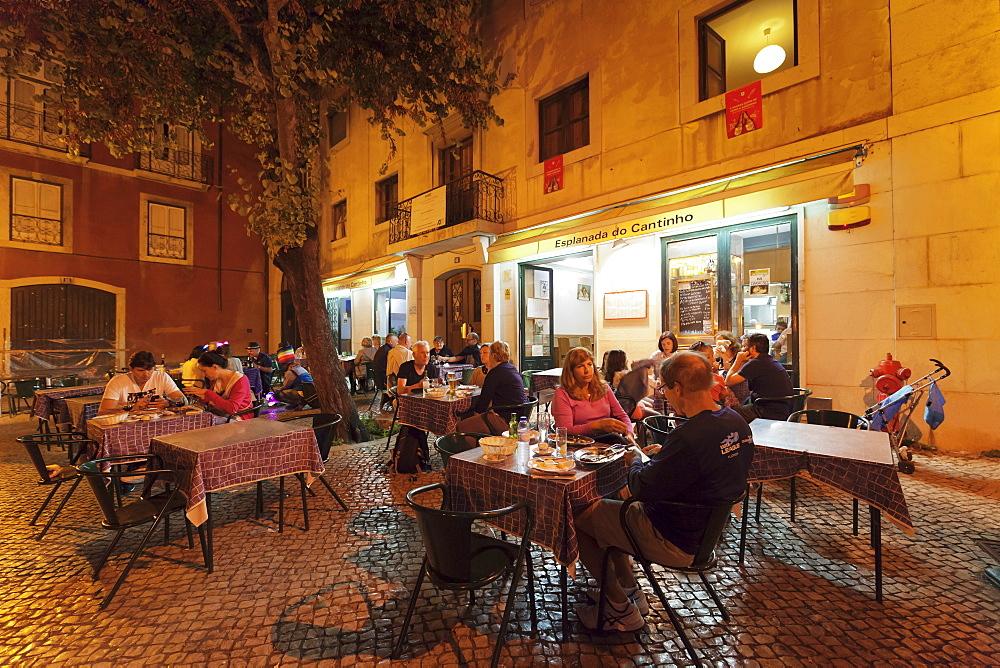 Restaurant, Alfama district, Lisbon, Portugal, Europe
