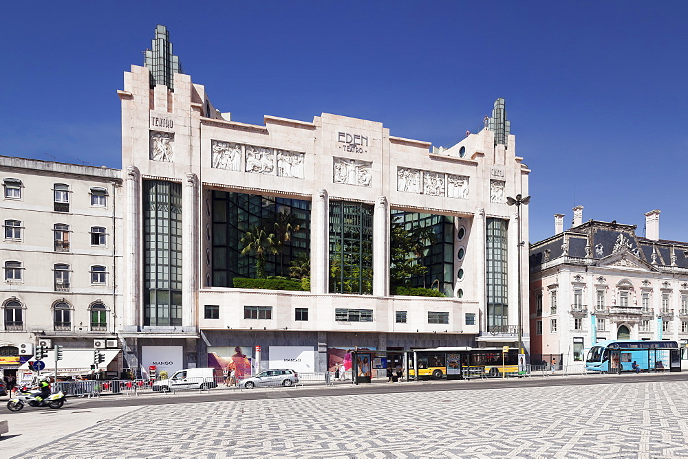 Art Deco Eden Theatre, Praca dos Restauradores, Avenida da Liberdade, Lisbon, Portugal, Europe
