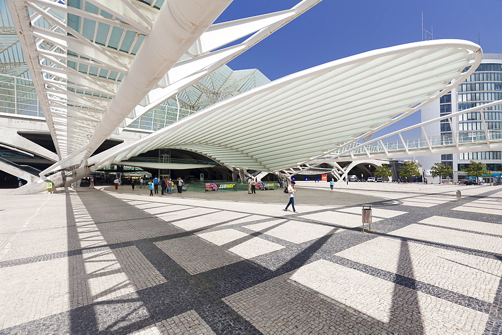 Oriente railway station, Santiago Calatrava architect, Lisbon, Portugal, Europe