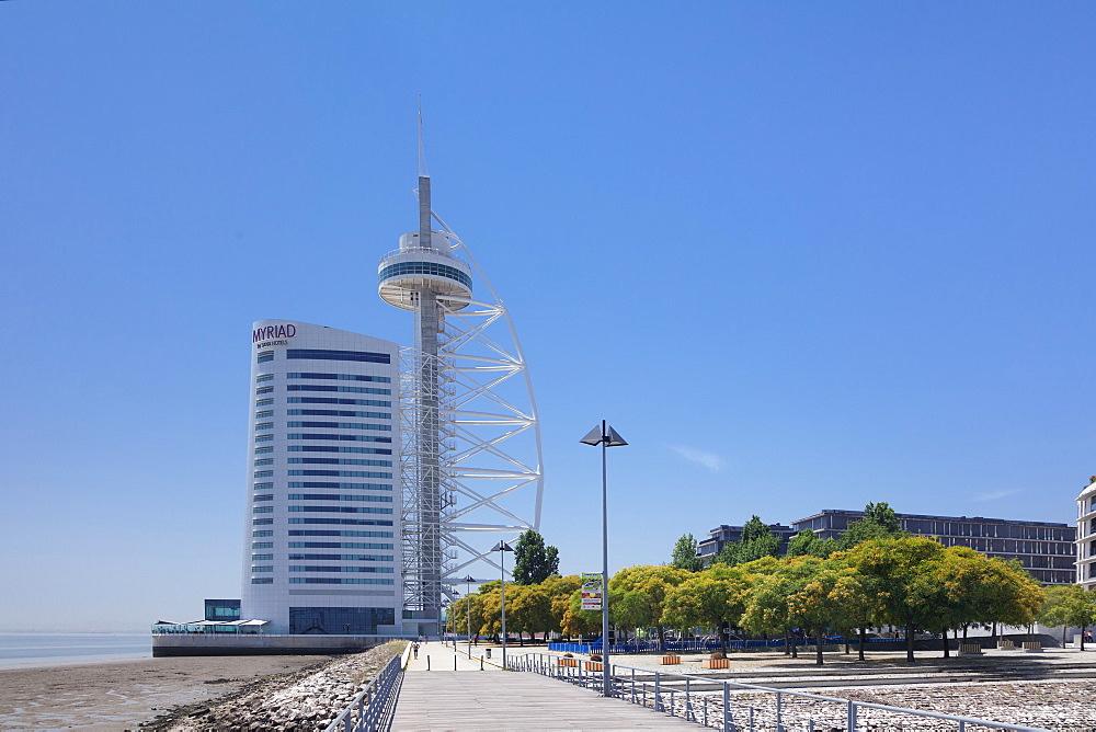 Torre Vasco da Gama Hotel, Parque das Nacoes, Lisbon, Portugal, Europe