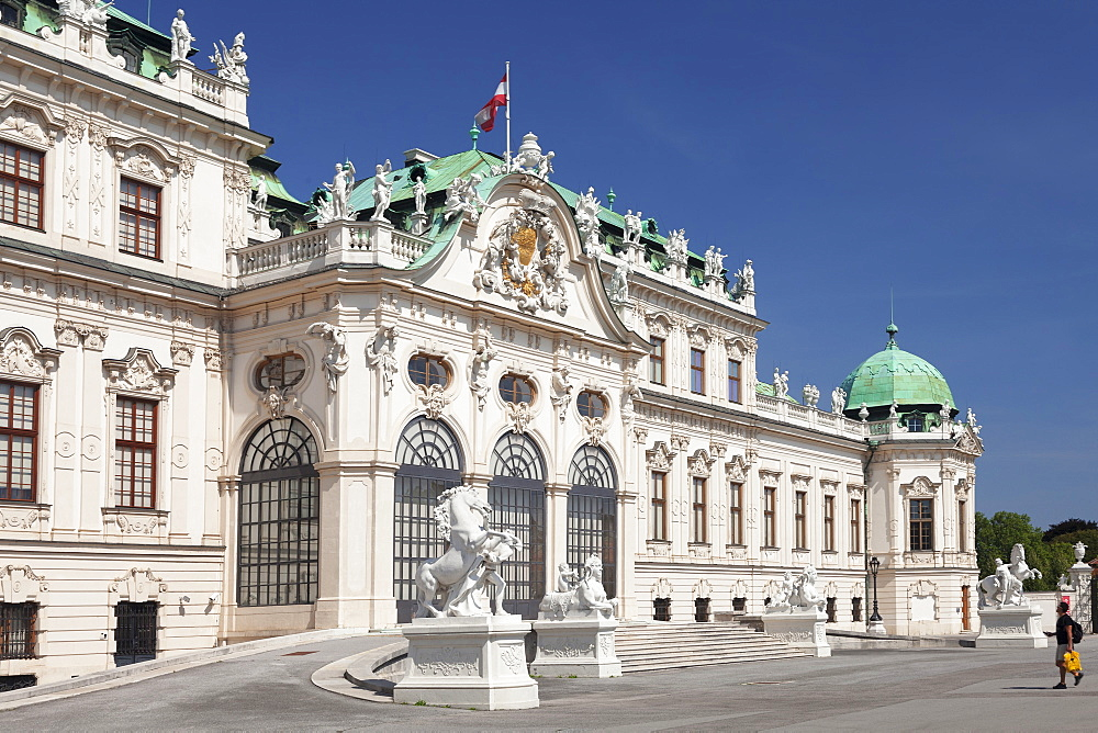 Upper Belvedere Palace, UNESCO World Heritage Site, Vienna, Austria, Europe