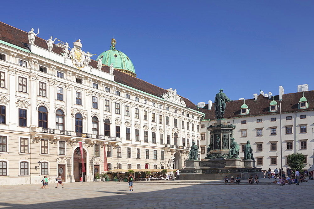 Emperor Francis Monument, Hofburg Palace, UNESCO World Heritage Site, Vienna, Austria, Europe - 1160-3746