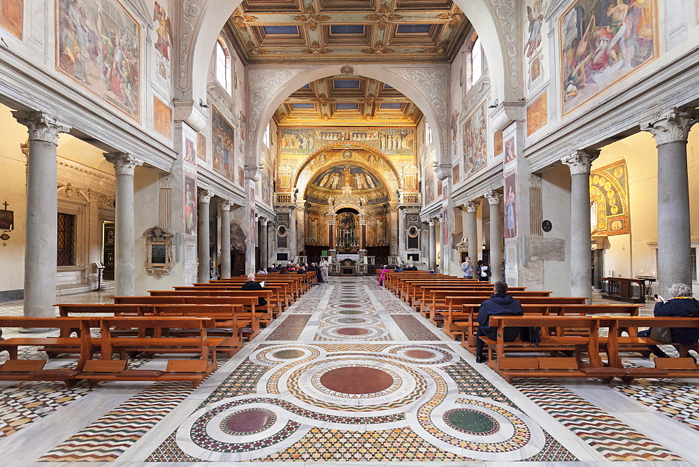 Basilica Santa Prassede, Rome, Lazio, Italy, Europe