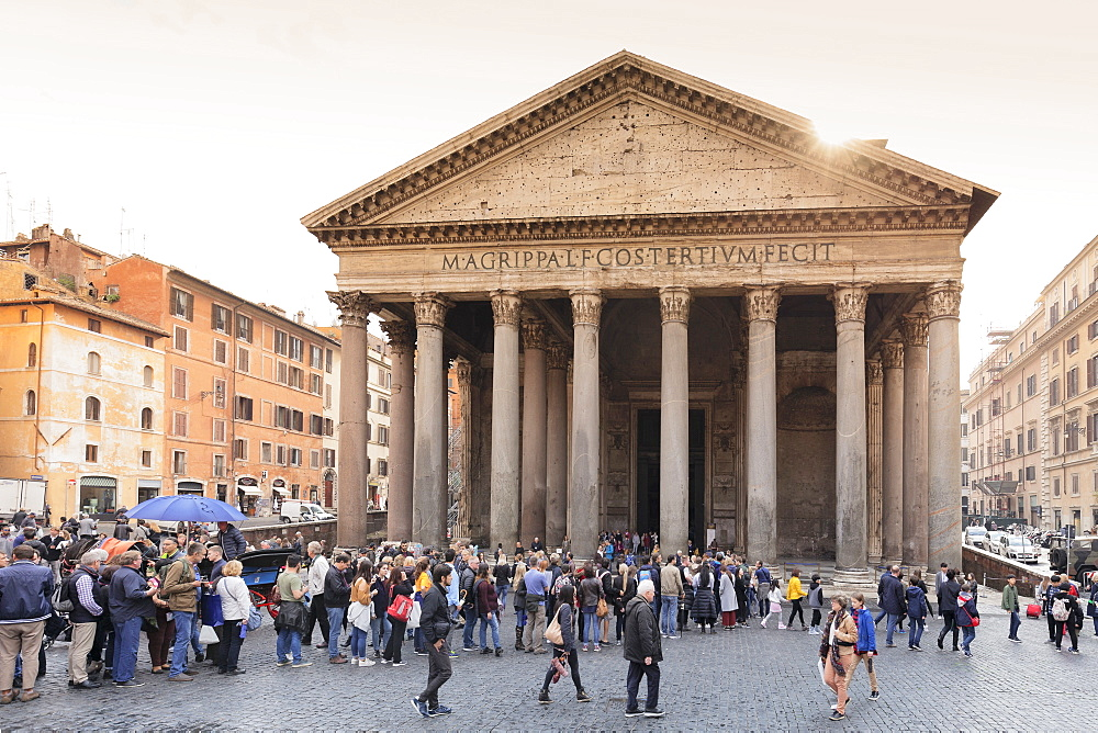 Pantheon, UNESCO World Heritage Site, Rome, Lazio, Italy, Europe - 1160-3842