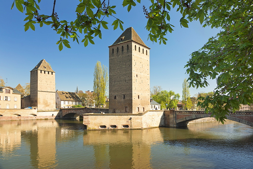 Ponts Couverts, Ill River, UNESCO World Heritage Site, Strasbourg, Alsace, France, Europe - 1160-3900