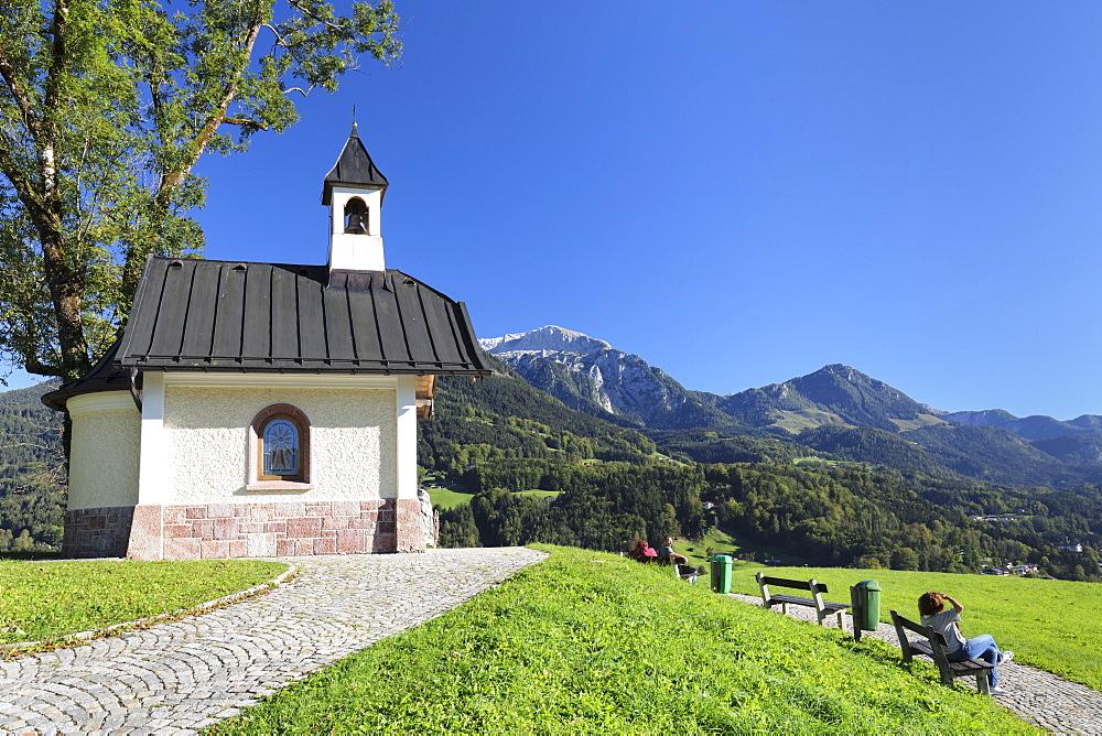 Chapel at Lockstein Mountain, Berchtesgaden, Upper Bavaria, Bavaria, Germany - 1160-3967