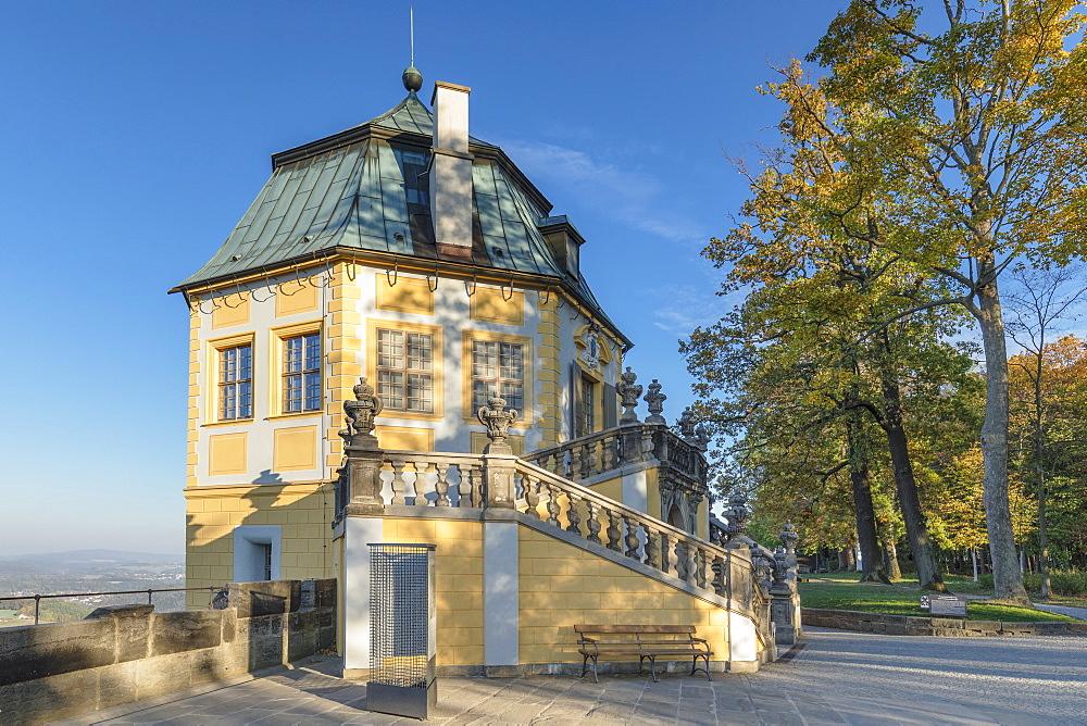 Friedrichsburg, Maison de plaisance, Koenigstein Fortress, Saxony Switzerland National Park, Saxony, Germany - 1160-4030