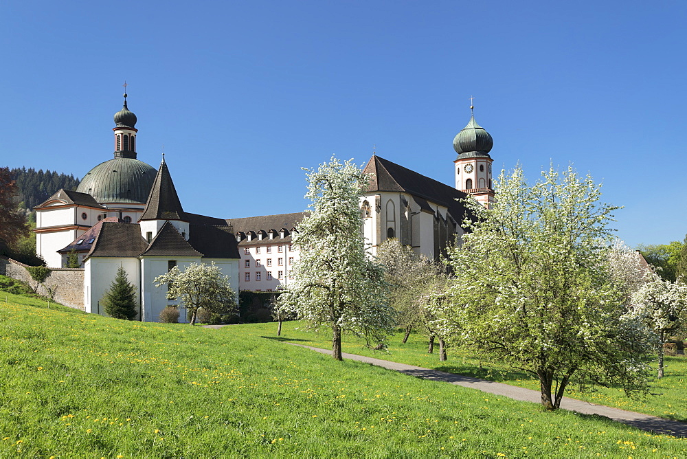 Sankt Trudpert Monastery, Muenstertal Valley, Black Forest, Baden-Wuerttemberg, Germany