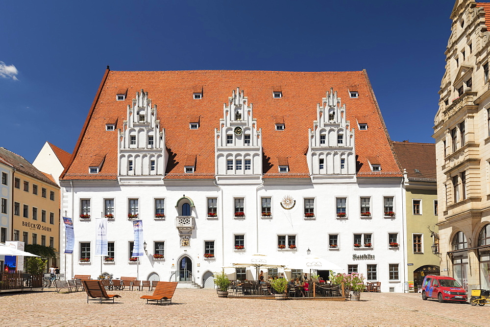 Townhall at market square, Meissen, Saxony, Germany, Europe - 1160-4225