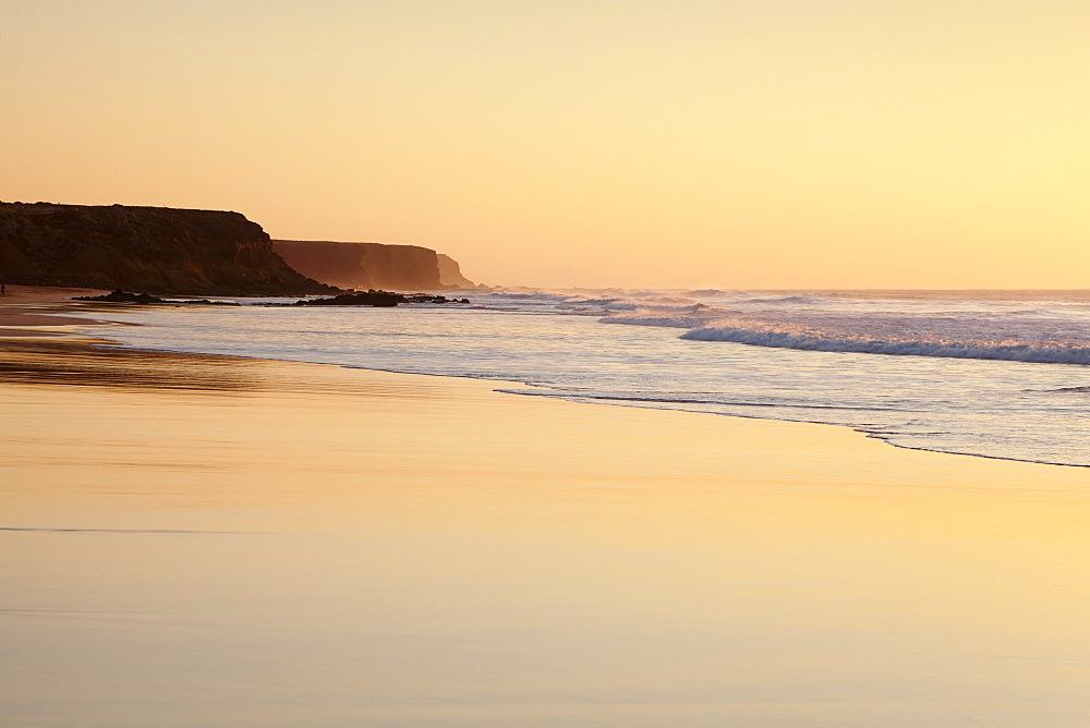 Playa del Castillo at sunset, El Cotillo, Fuerteventura, Canary Islands, Spain, Atlantic, Europe