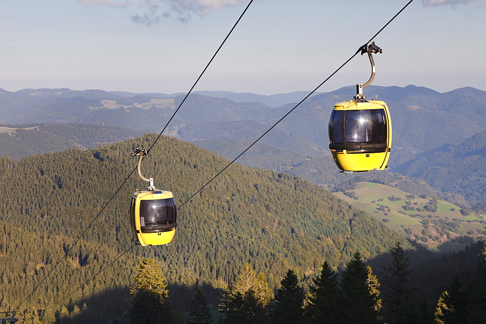 Cable car, Belchen summit, Black Forest, Baden Wurttemberg, Germany, Europe