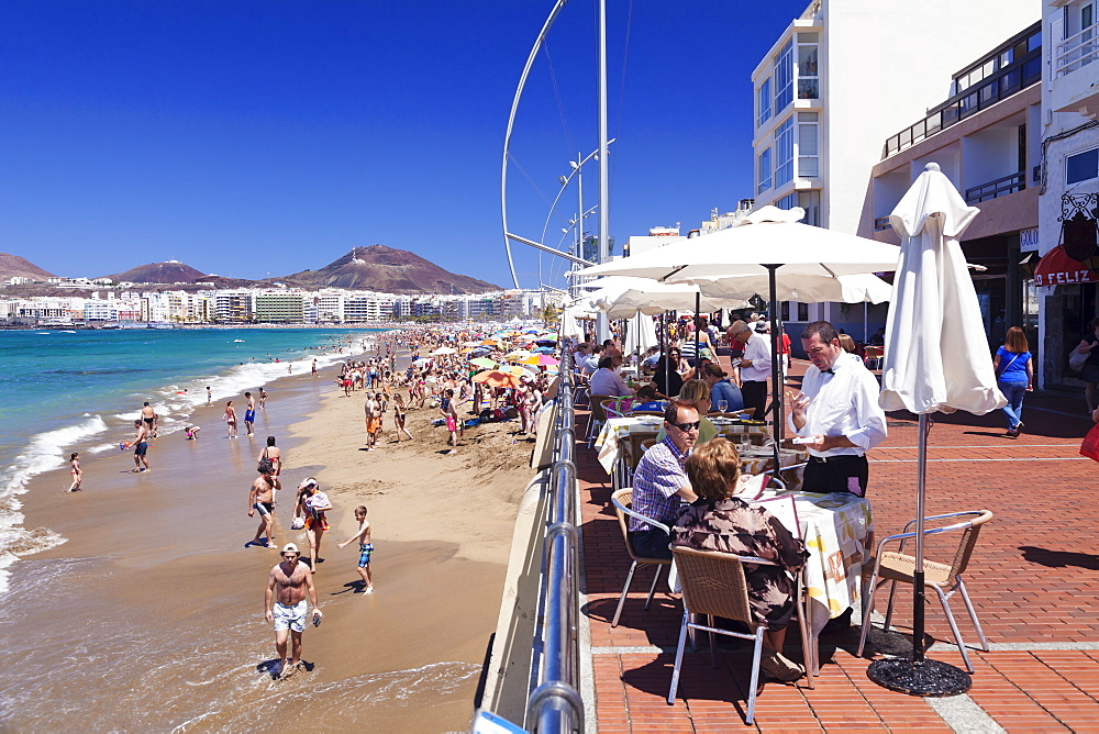 Playa de las Canteras, Las Palmas, Gran Canaria, Canary Islands, Spain, Atlantic, Europe