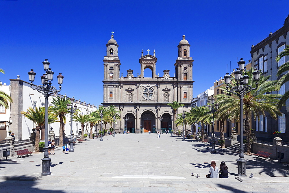 Santa Ana Cathedral, Plaza Santa Ana, Vegueta Old Town, Las Palmas, Gran Canaria, Canary Islands, Spain, Europe