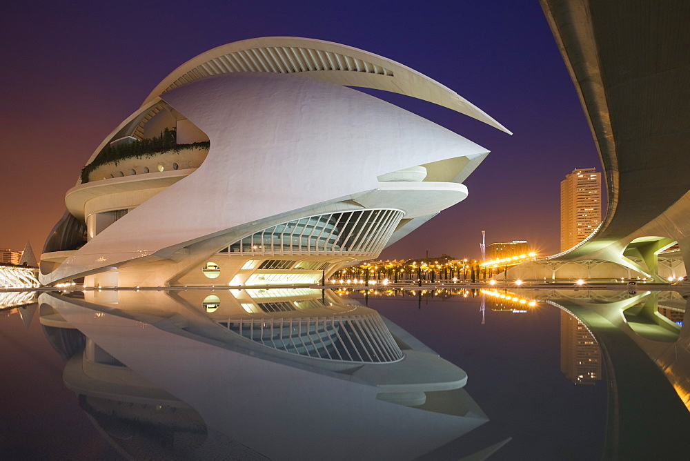 Palacio de las Artes Reina Sofia, the Opera House, City of Arts and Sciences (La Ciudad de las Artes y las Ciencias), Valencia, Comunidad Valencia, Spain, Europe