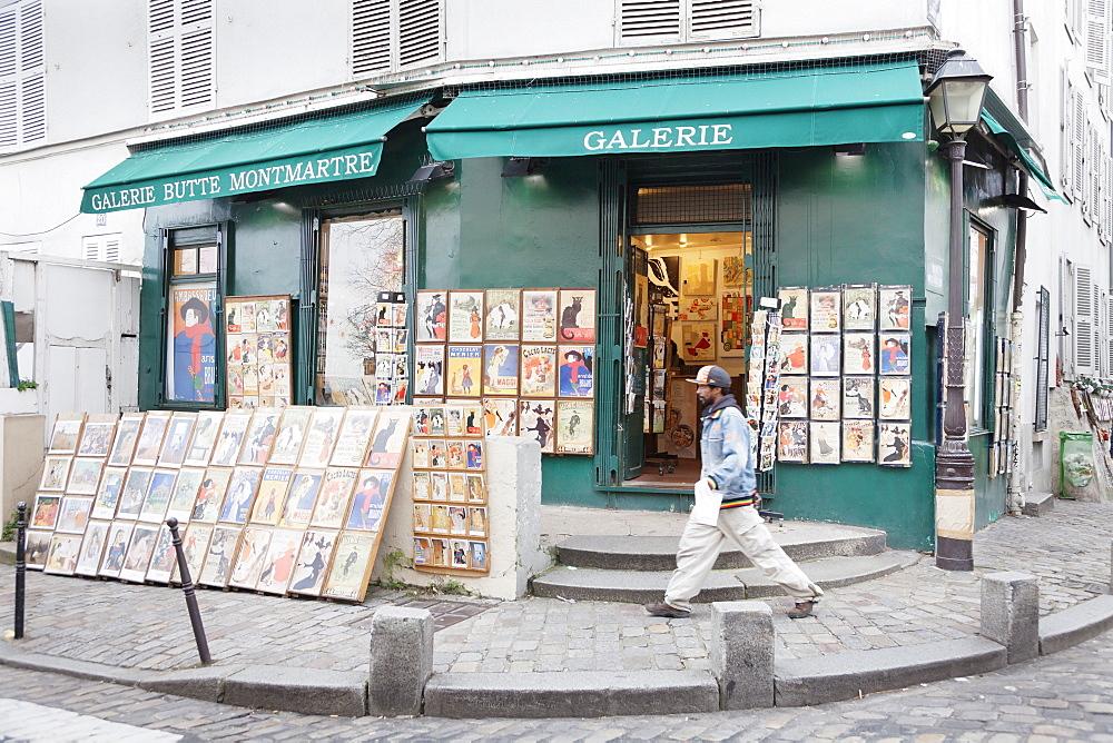 Galerie Butte Montmartre, Montmartre, Paris, Ile de France, France, Europe