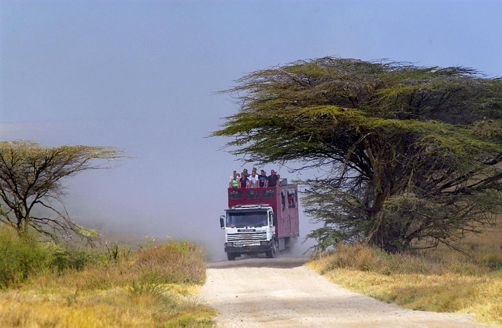 Tourists in Serengeti,Tanzania