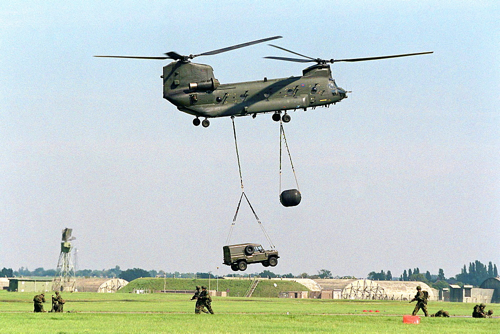 The launch of the 16 Air Assault Bridgade at Wattisham Airfield in Suffolk