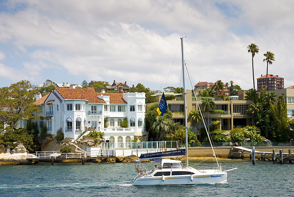 Colonial style house, Sydney waterfront residences, Australia