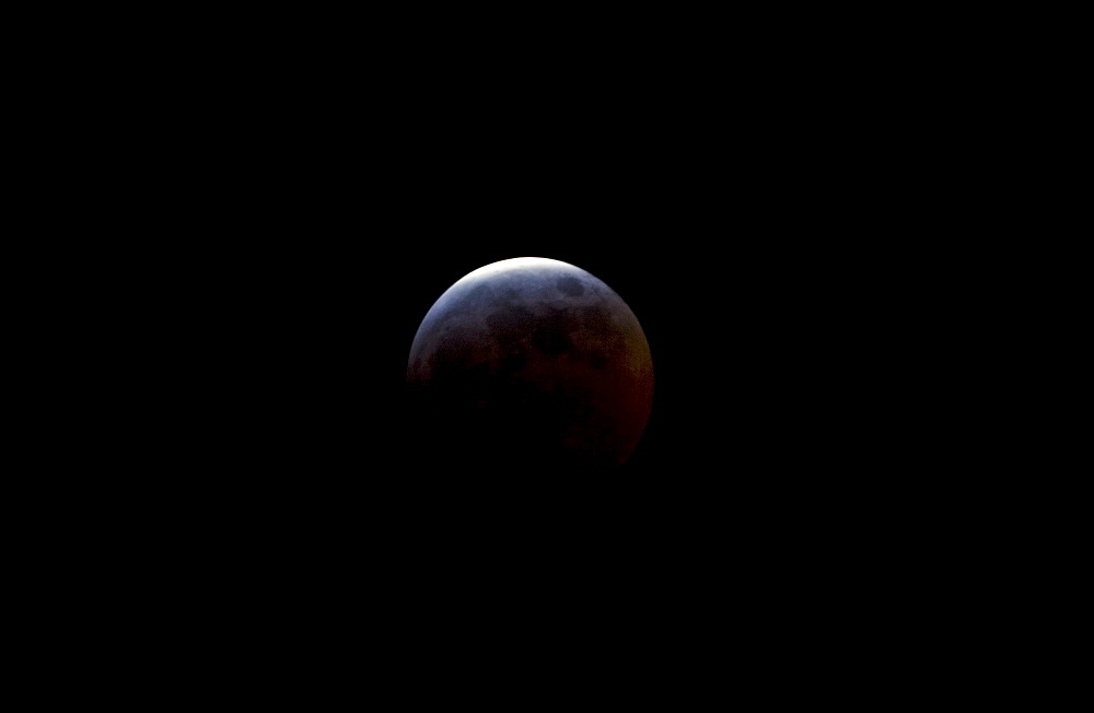 Eclipse of moon, Southern England, United Kingdom