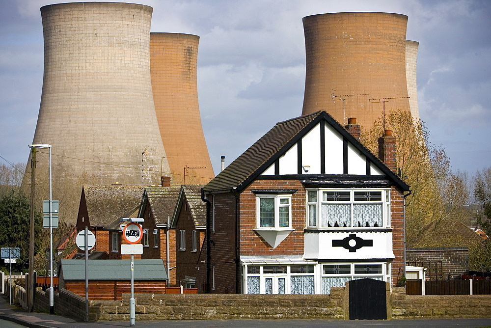 Residential properties by Rugeley Power Station, Staffordshire, United Kingdom