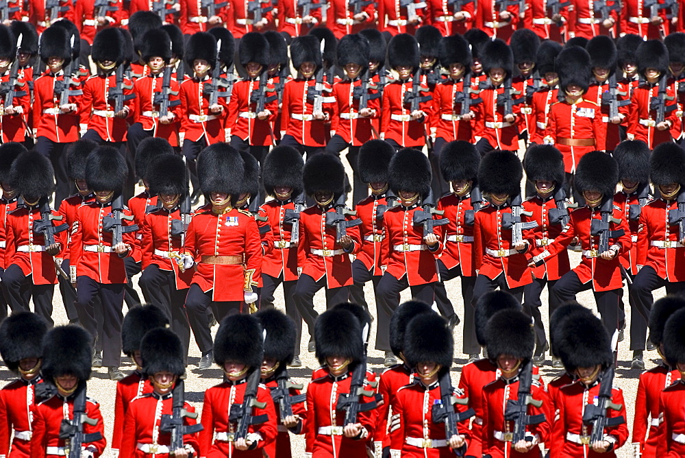 Military Parade parade soldiers with SLR rifles London, United Kingdom.